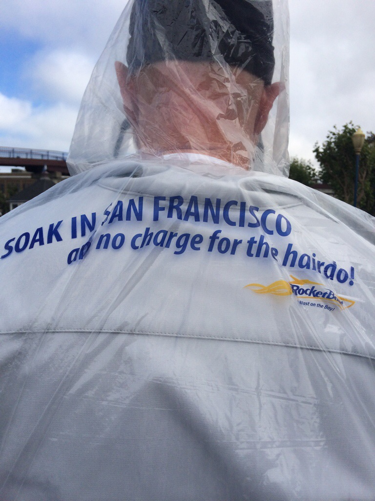 SOAK IN SAN FRANCISCO - and no charge for the hairdo - Rocket Boat