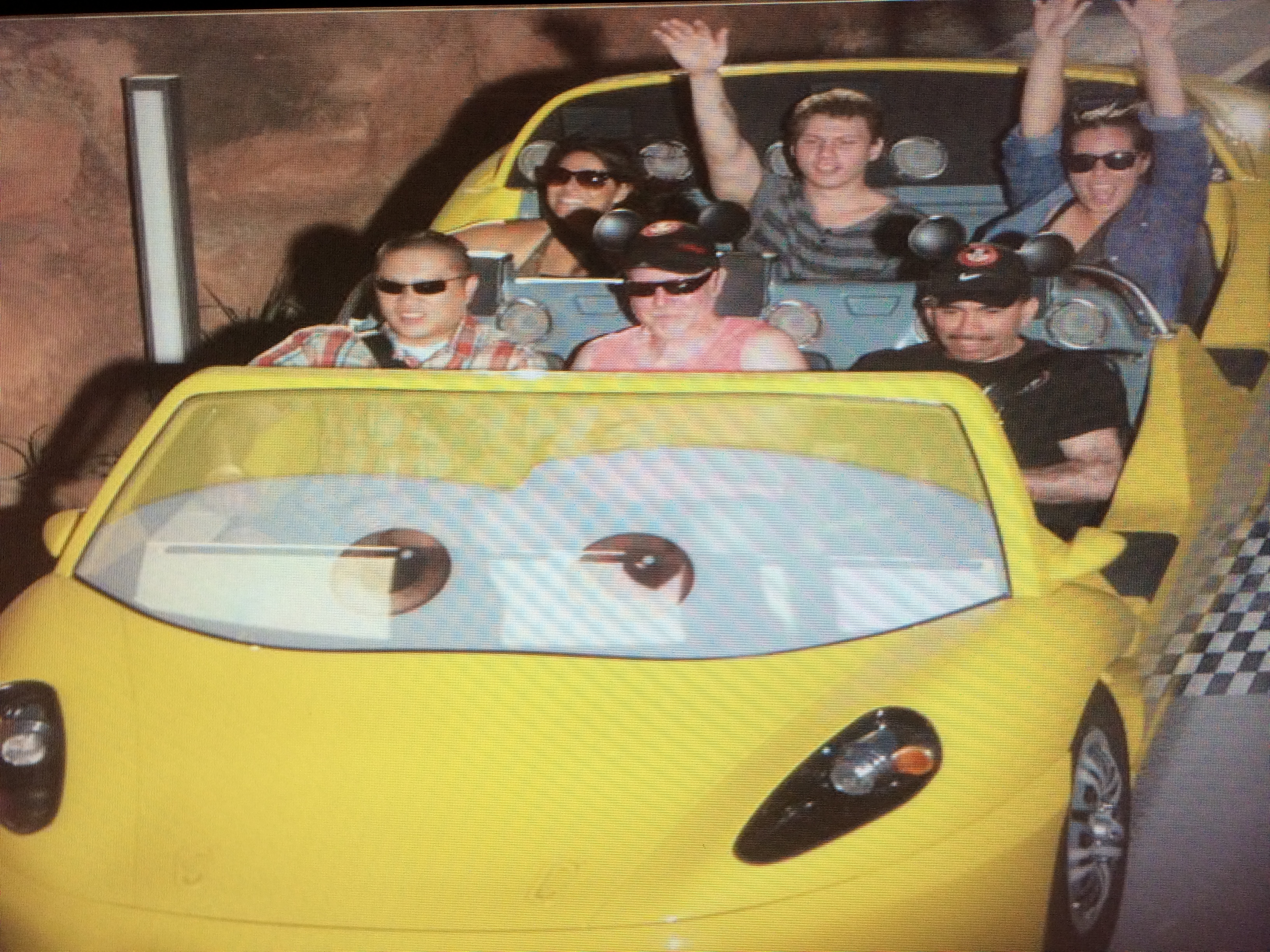 Having fun in Cars Land - the Radiator Springs Racers